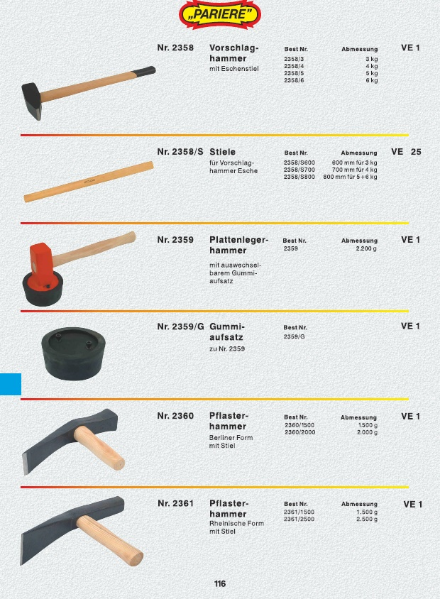 Plattenlegerhammer Pflasterhammer Gummihammer Hammer mit Gummiaufsatz